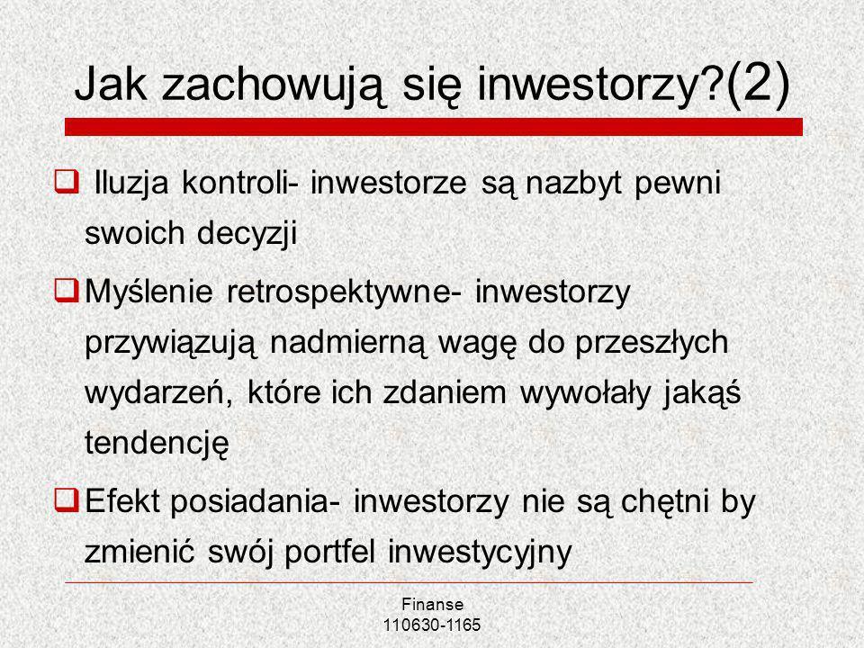 Jak zachowują się inwestorzy (2)