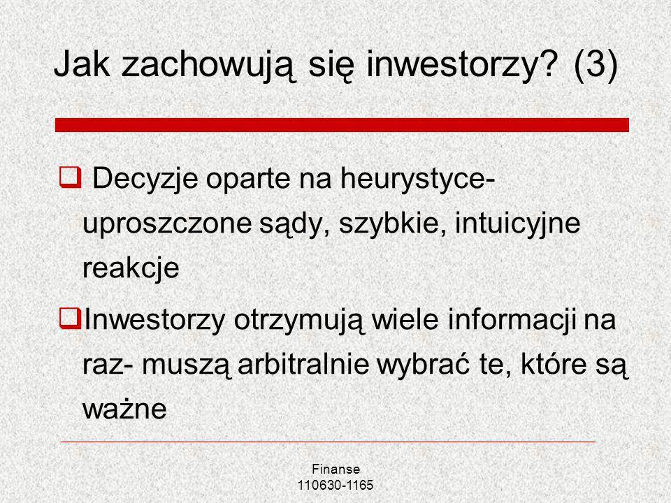 Jak zachowują się inwestorzy (3)