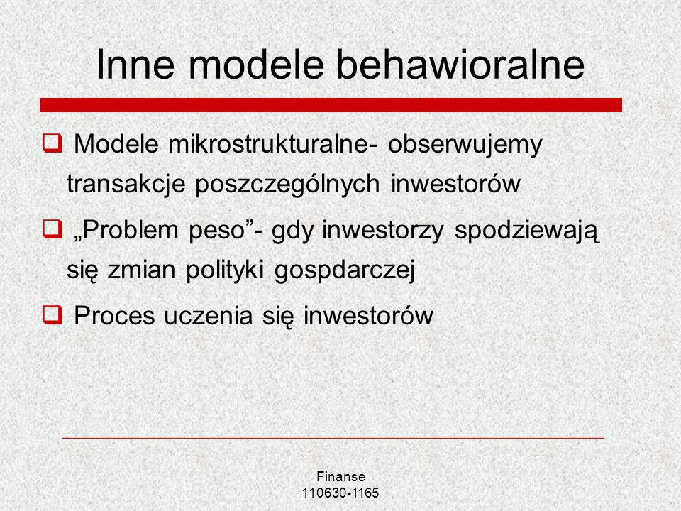 Inne modele behawioralne