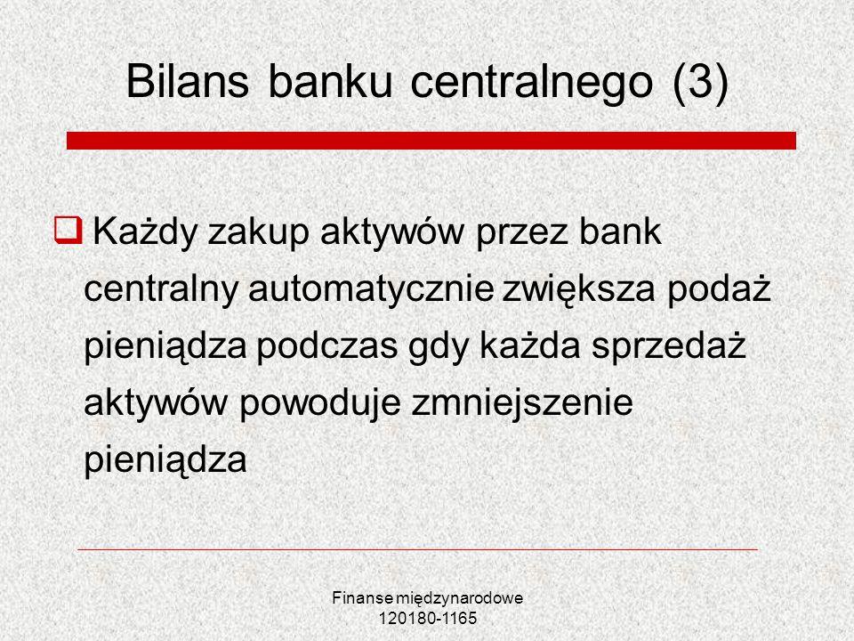 Bilans banku centralnego (3)