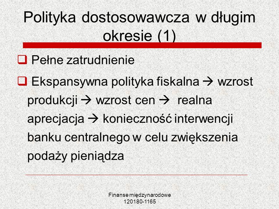 Polityka dostosowawcza w długim okresie (1)