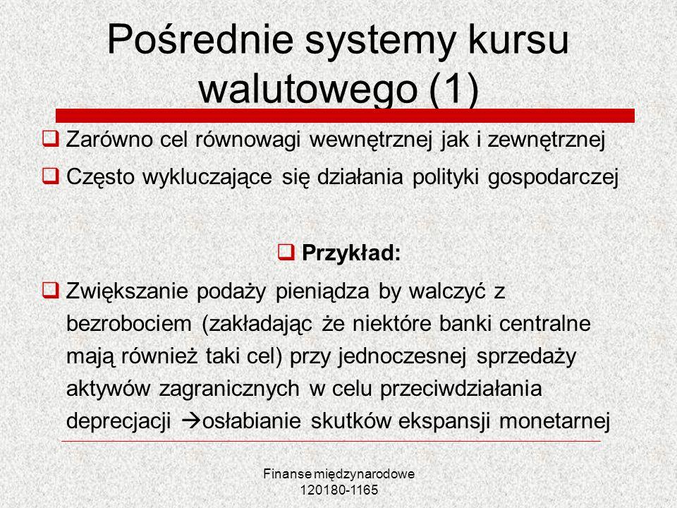 Pośrednie systemy kursu walutowego (1)