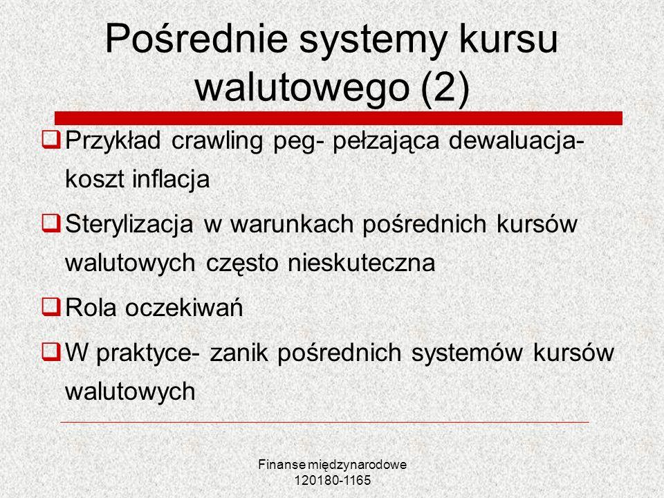 Pośrednie systemy kursu walutowego (2)