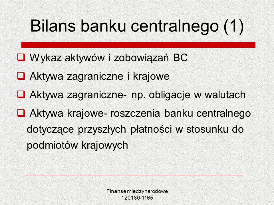 Bilans banku centralnego (1)