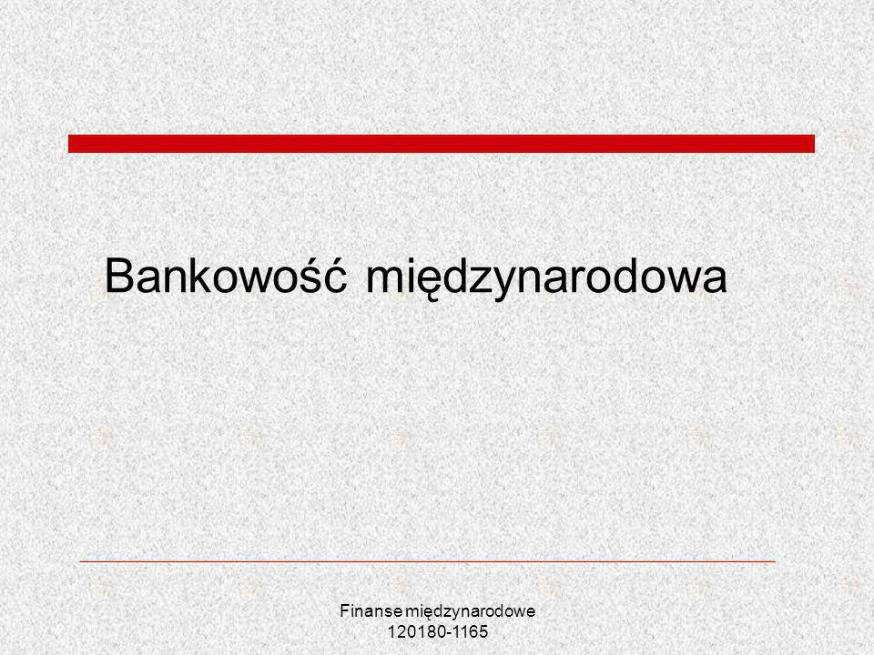 Bankowość międzynarodowa