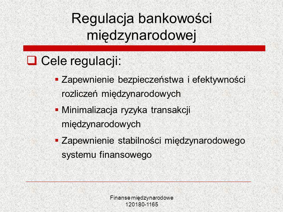 Regulacja bankowości międzynarodowej