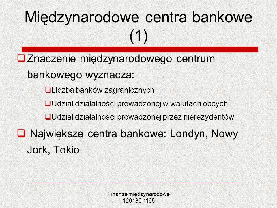 Międzynarodowe centra bankowe (1)