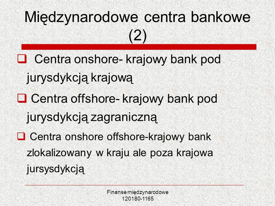 Międzynarodowe centra bankowe (2)