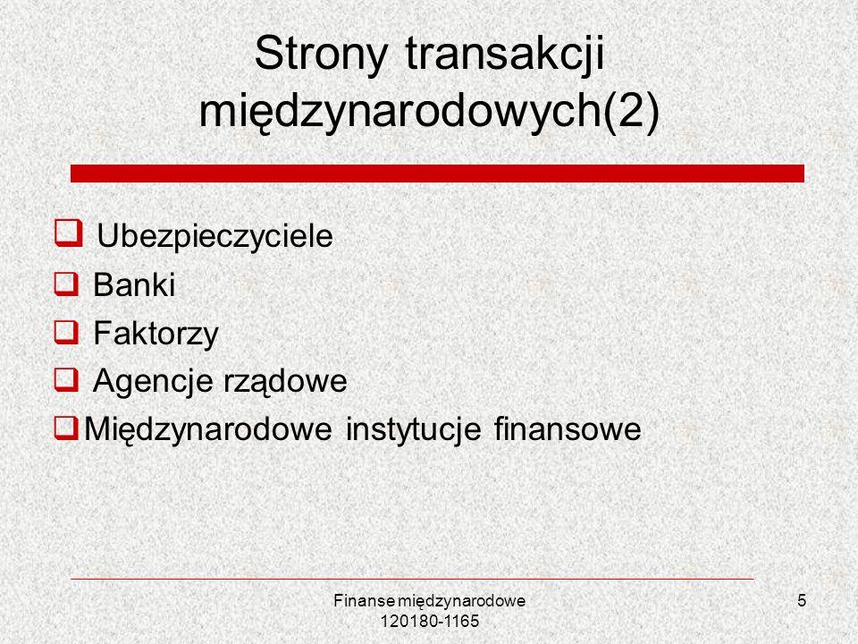 Strony transakcji międzynarodowych(2)