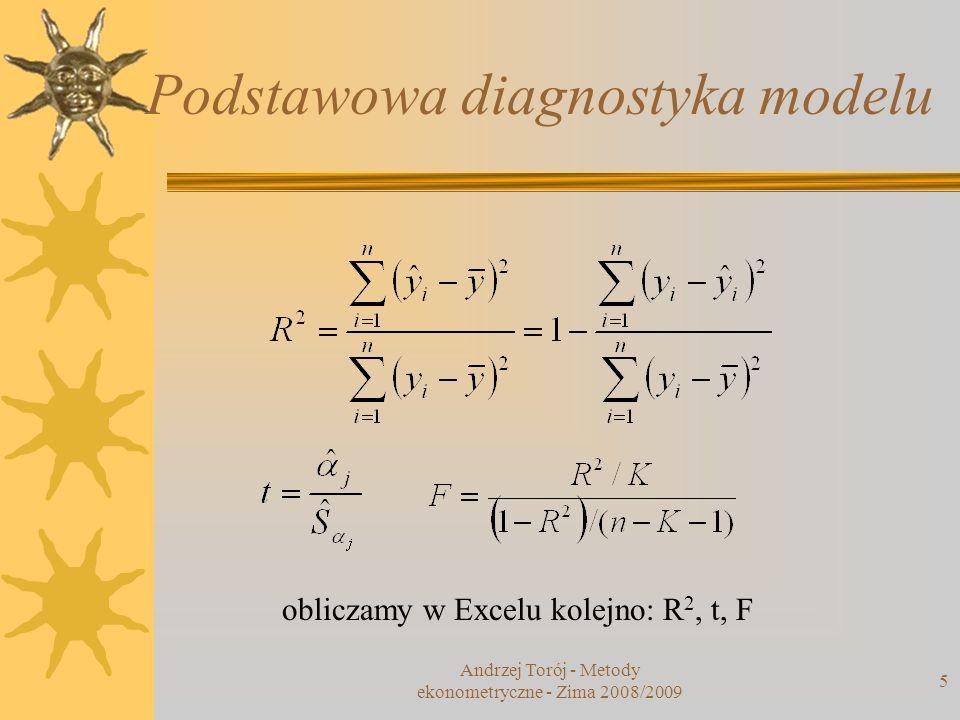 Podstawowa diagnostyka modelu