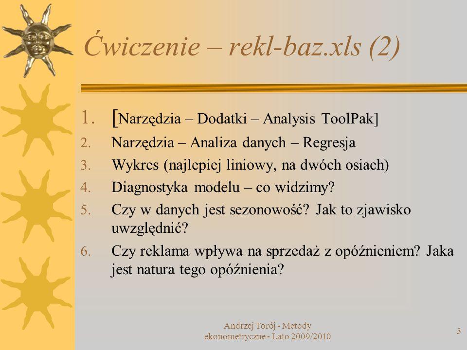 Ćwiczenie – rekl-baz.xls (2)