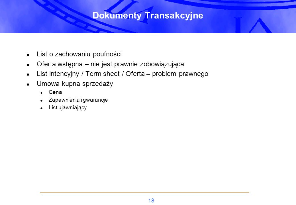 Dokumenty Transakcyjne