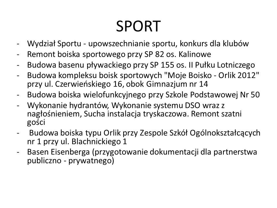 SPORT Wydział Sportu - upowszechnianie sportu, konkurs dla klubów