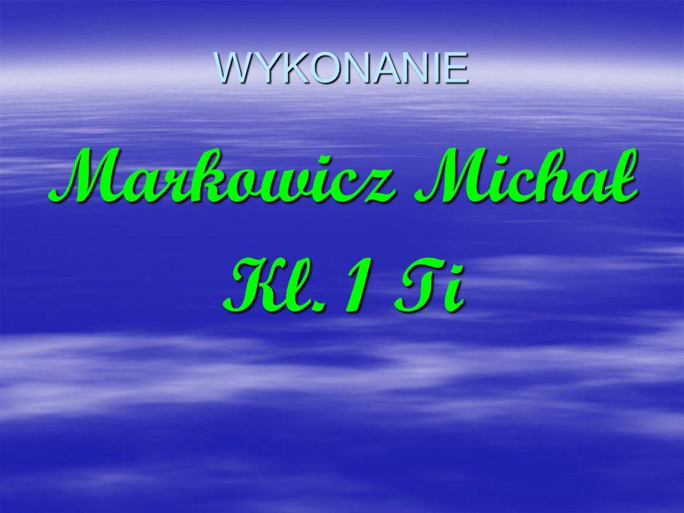 WYKONANIE Markowicz Michał Kl. 1 Ti
