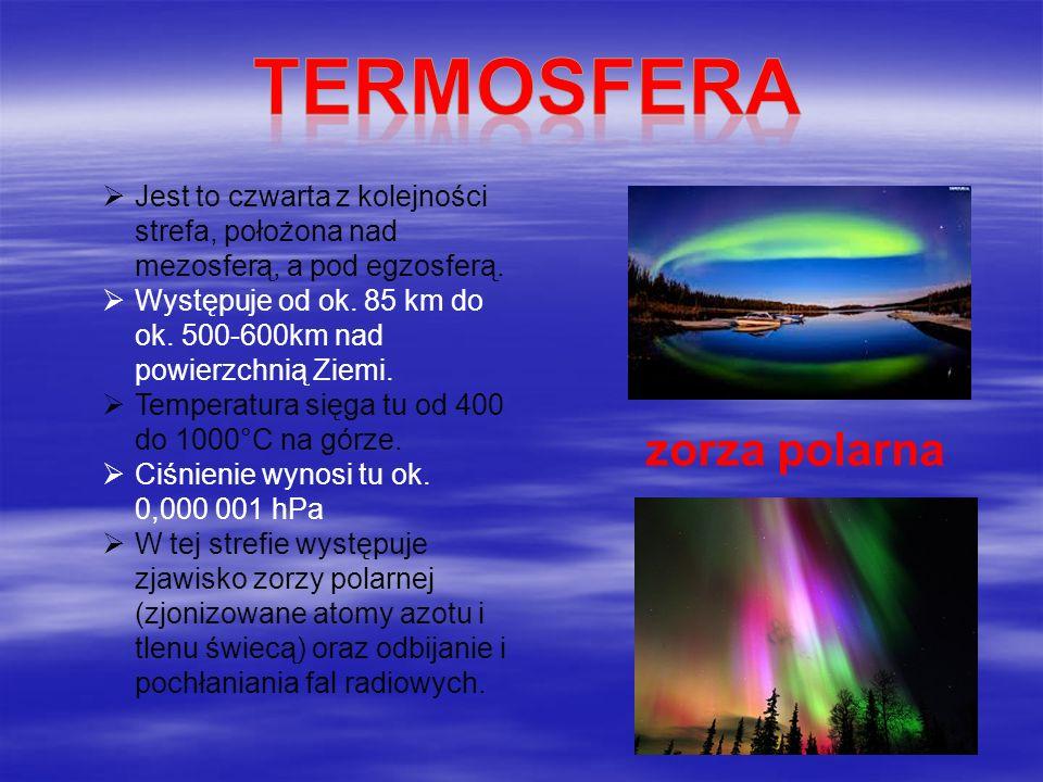 Termosfera zorza polarna