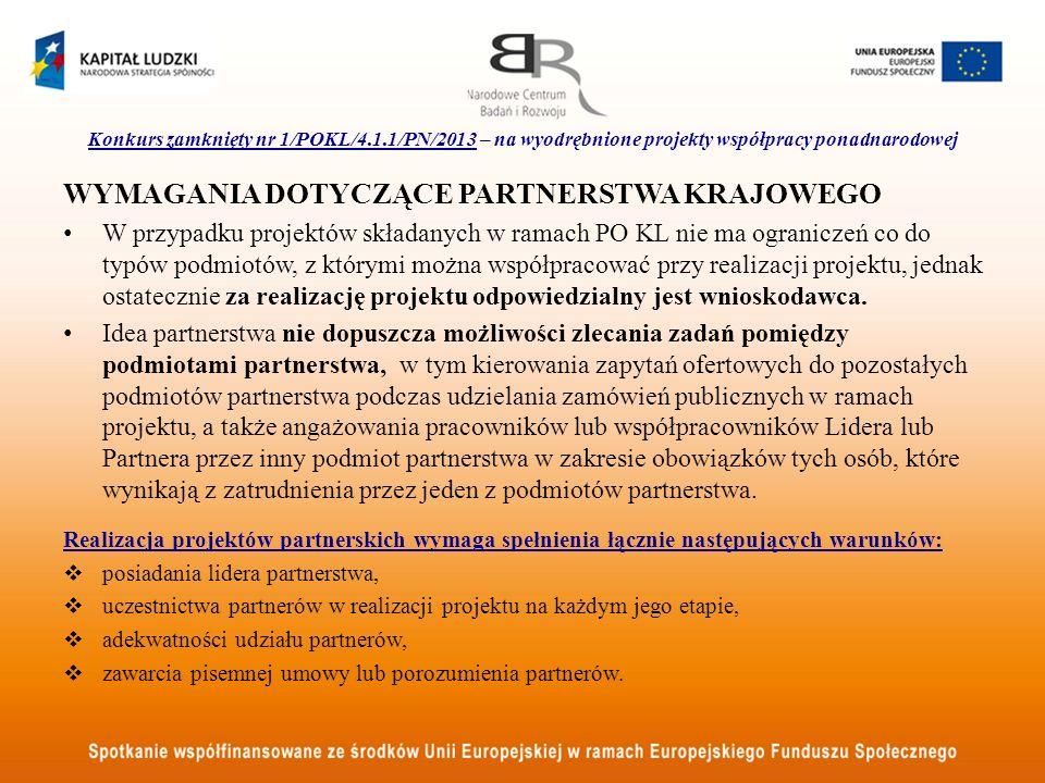Wymagania dotyczące partnerstwa krajowego