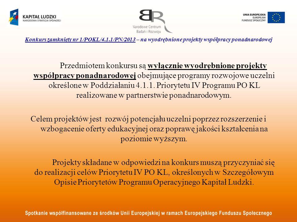Konkurs zamknięty nr 1/POKL/4. 1