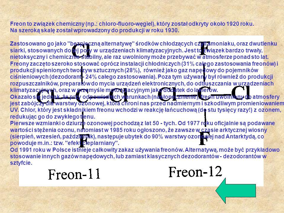 Freon to związek chemiczny (np