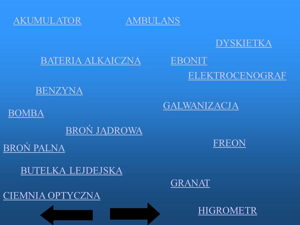 AKUMULATOR AMBULANS. DYSKIETKA. BATERIA ALKAICZNA. EBONIT. ELEKTROCENOGRAF. BENZYNA. GALWANIZACJA.
