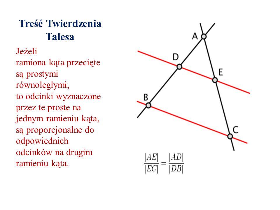 Treść Twierdzenia Talesa