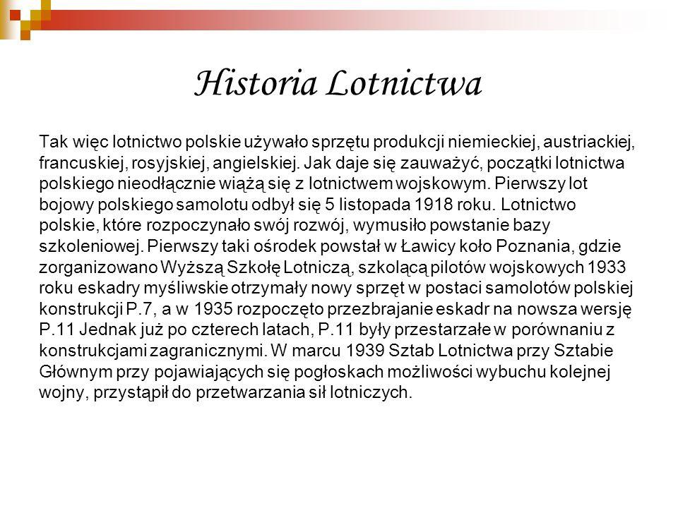 Historia Lotnictwa