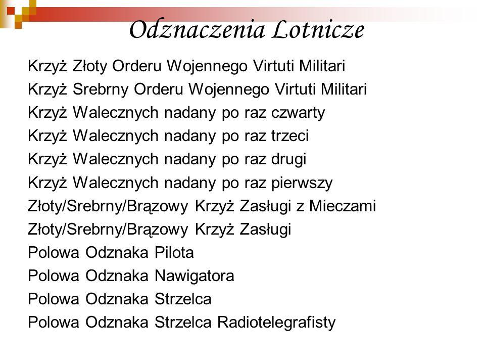 Odznaczenia Lotnicze Krzyż Złoty Orderu Wojennego Virtuti Militari