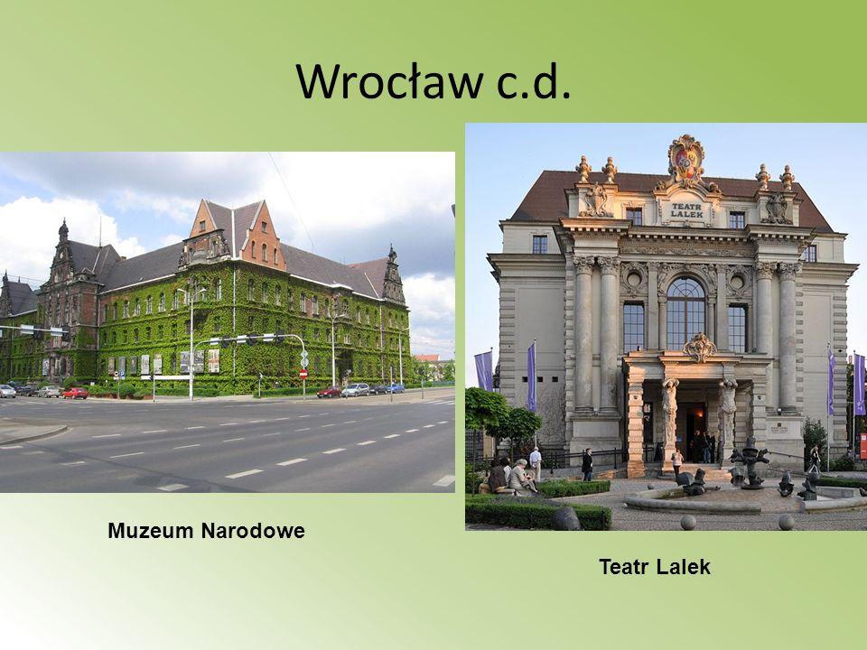 Wrocław c.d. Muzeum Narodowe Teatr Lalek