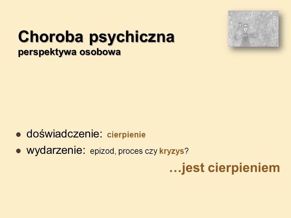 Choroba psychiczna perspektywa osobowa