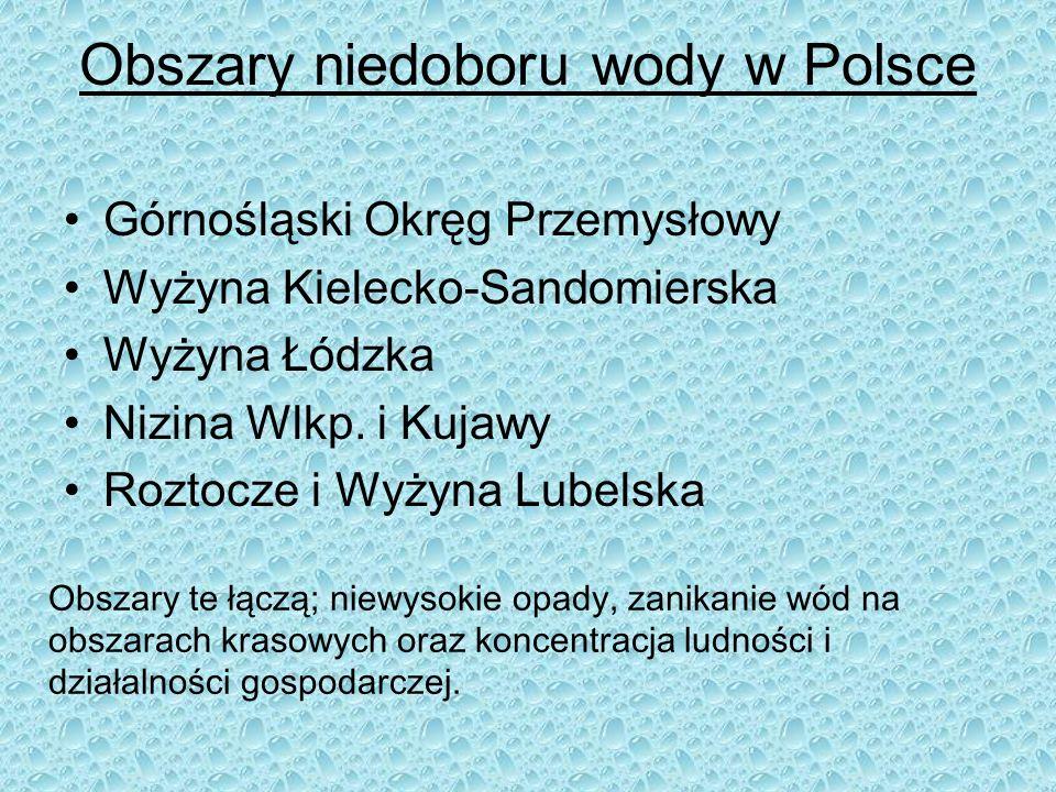 Obszary niedoboru wody w Polsce