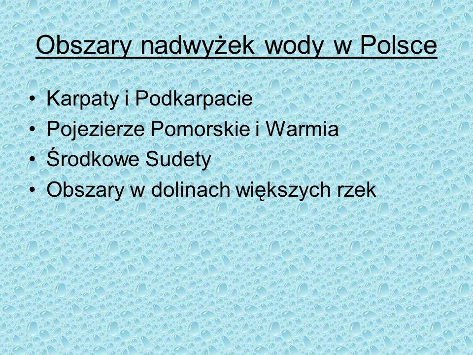 Obszary nadwyżek wody w Polsce