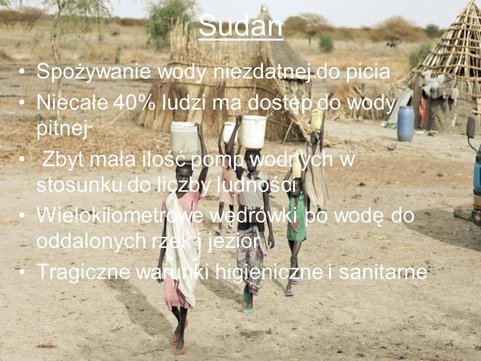 Sudan Spożywanie wody niezdatnej do picia