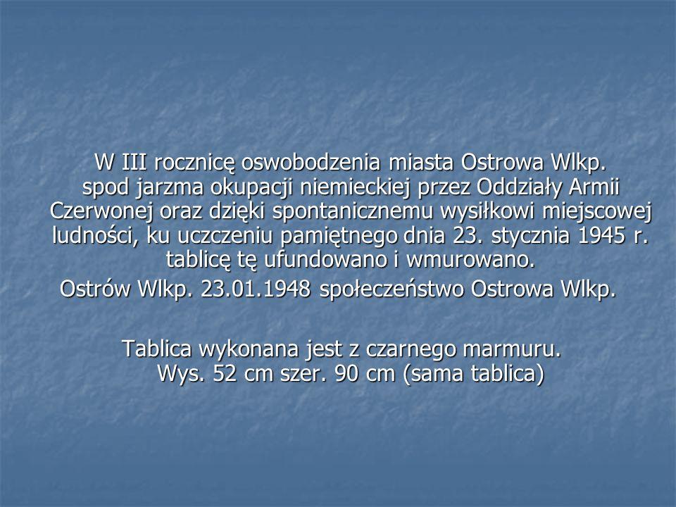 Ostrów Wlkp. 23.01.1948 społeczeństwo Ostrowa Wlkp.