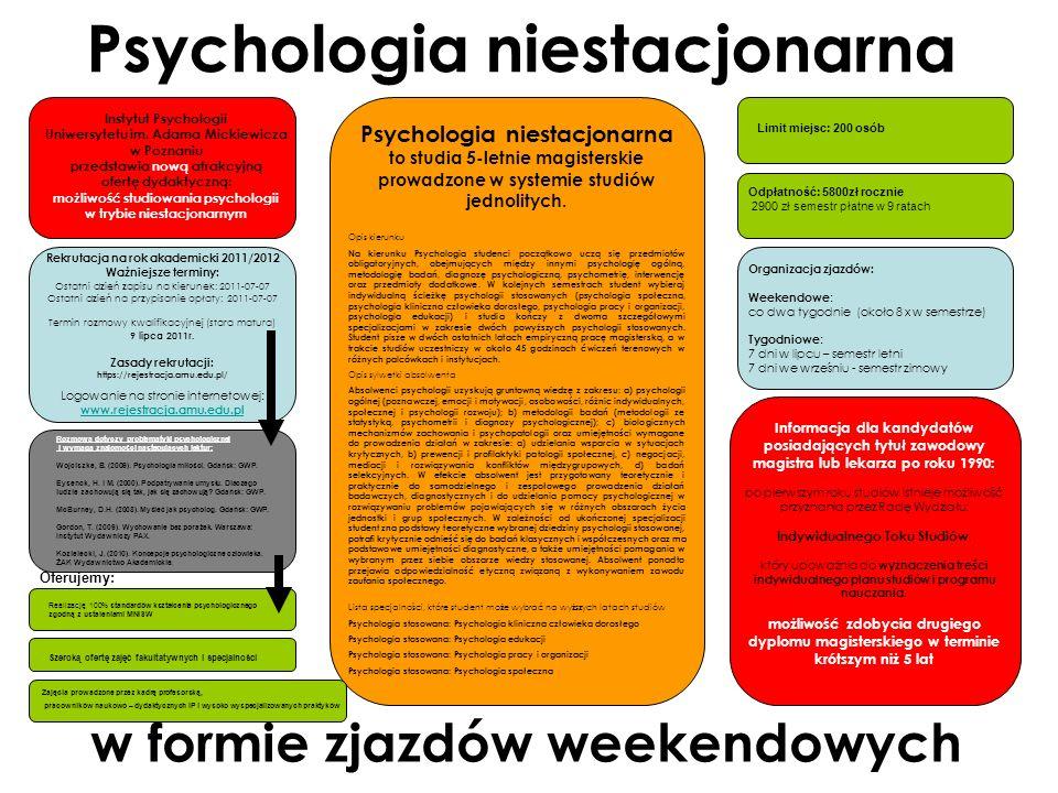 Psychologia niestacjonarna