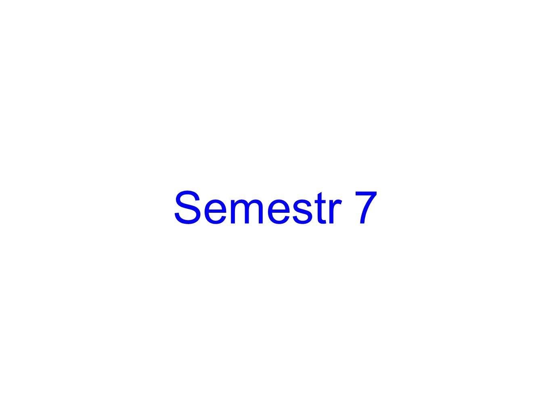 Semestr 7