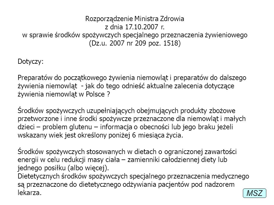 Rozporządzenie Ministra Zdrowia z dnia 17. 10. 2007 r