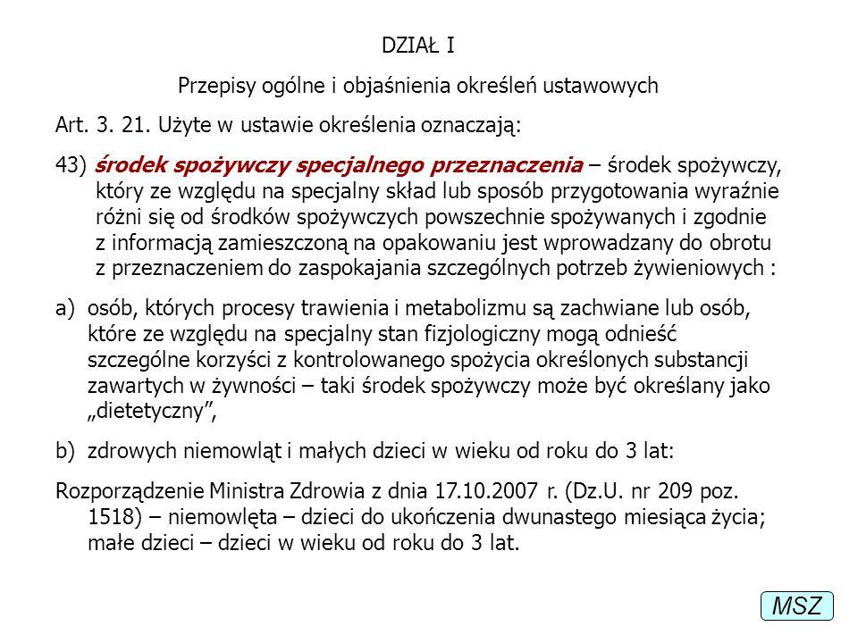 Przepisy ogólne i objaśnienia określeń ustawowych
