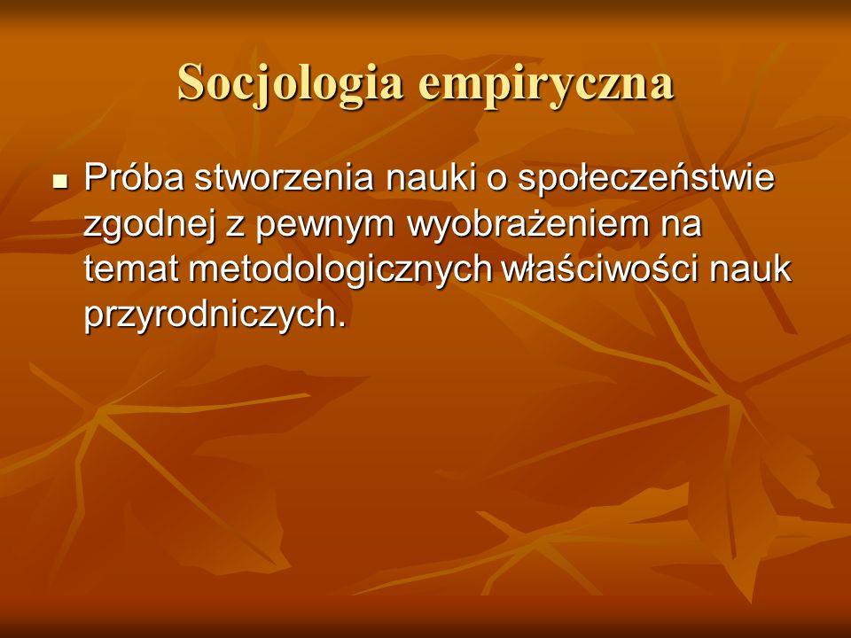 Socjologia empiryczna