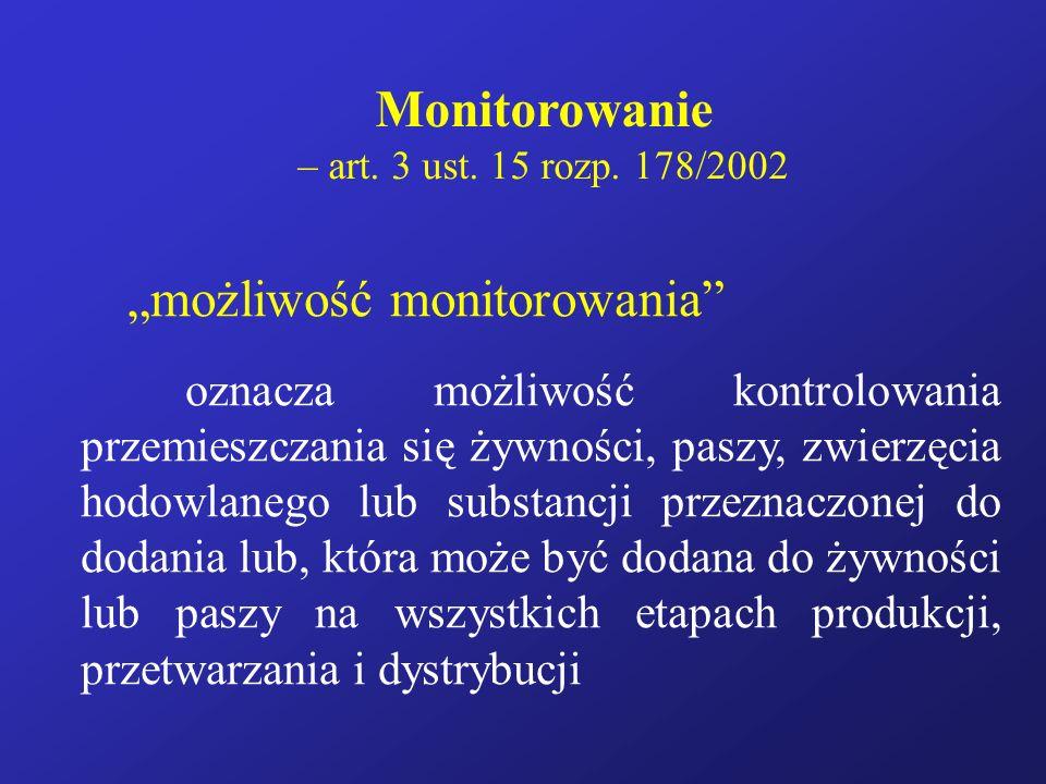 """Monitorowanie """"możliwość monitorowania"""