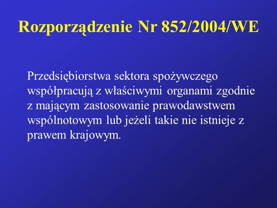 Rozporządzenie Nr 852/2004/WE