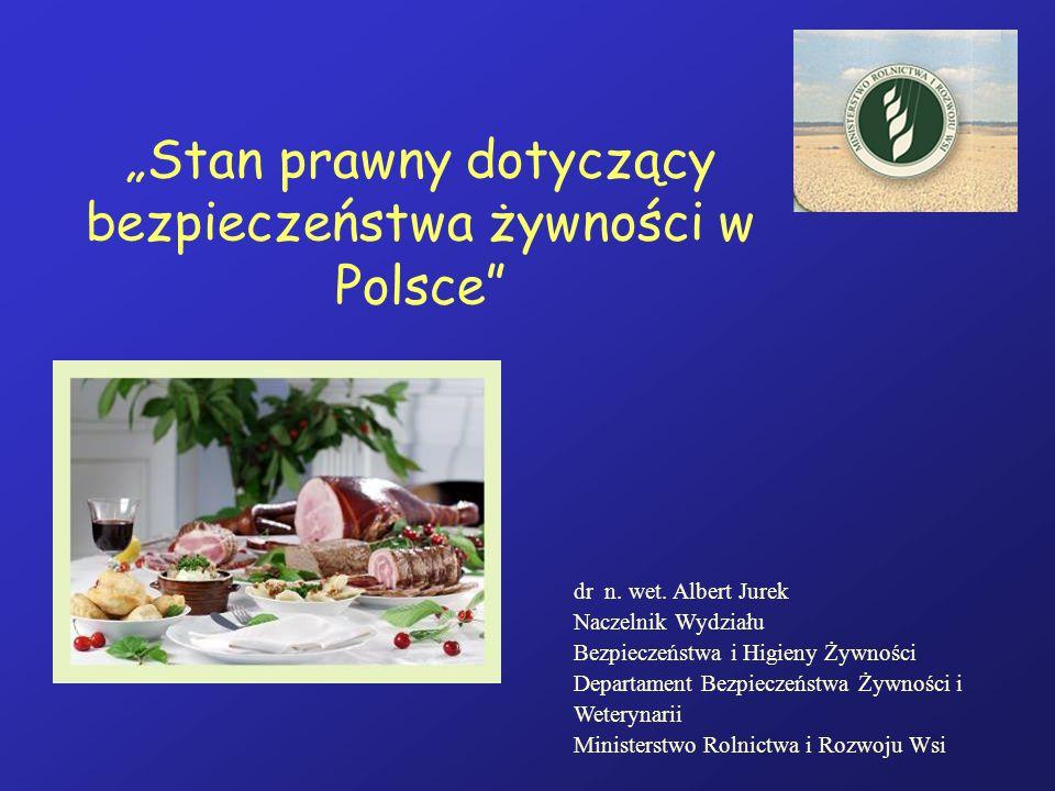 """""""Stan prawny dotyczący bezpieczeństwa żywności w Polsce"""