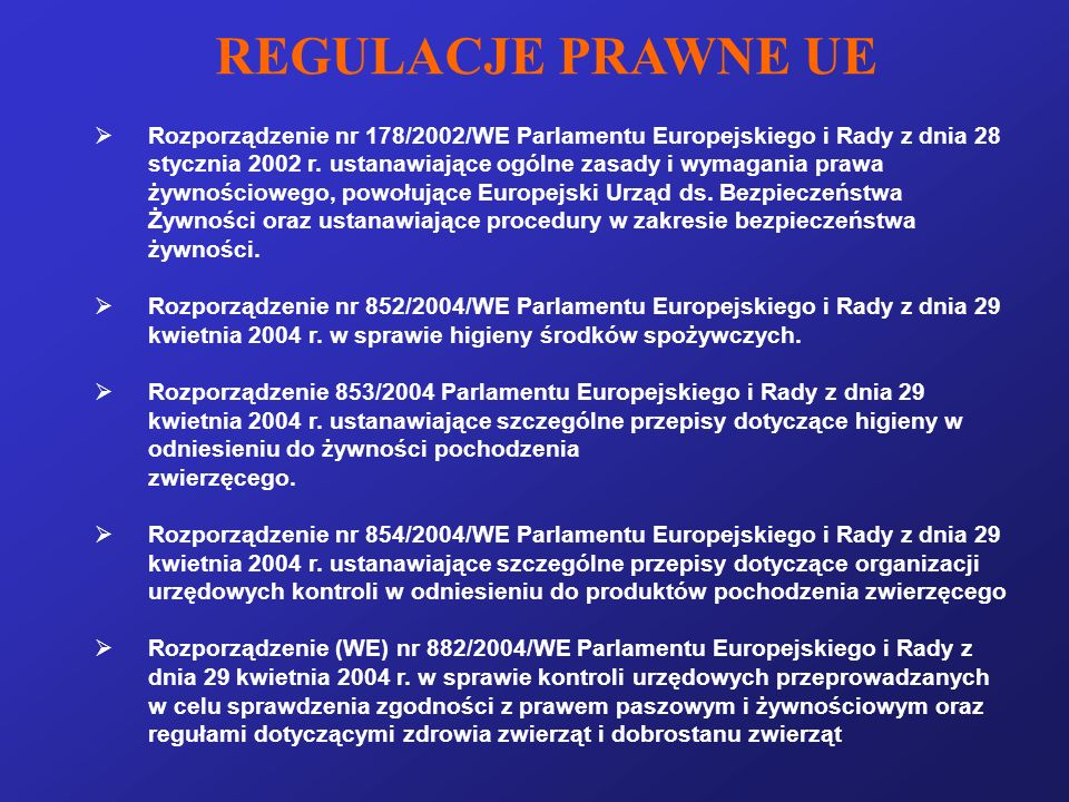 REGULACJE PRAWNE UE