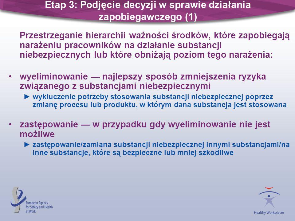 Etap 3: Podjęcie decyzji w sprawie działania zapobiegawczego (1)