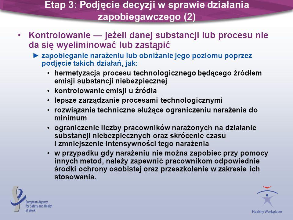 Etap 3: Podjęcie decyzji w sprawie działania zapobiegawczego (2)