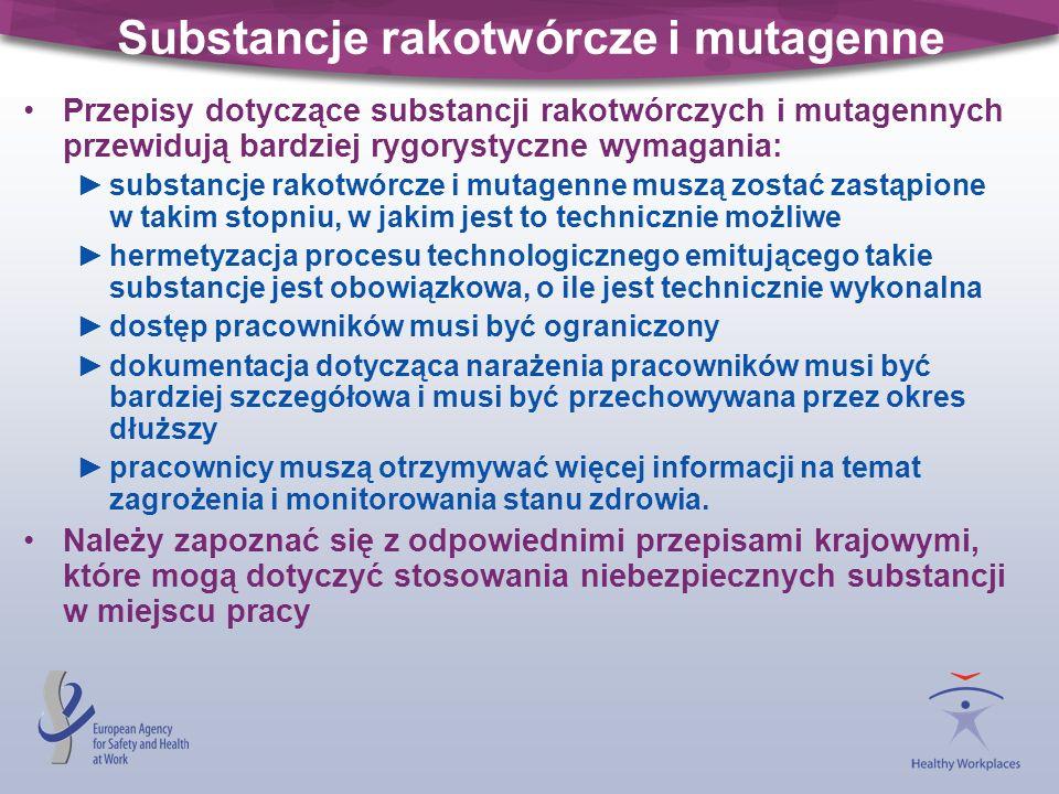 Substancje rakotwórcze i mutagenne