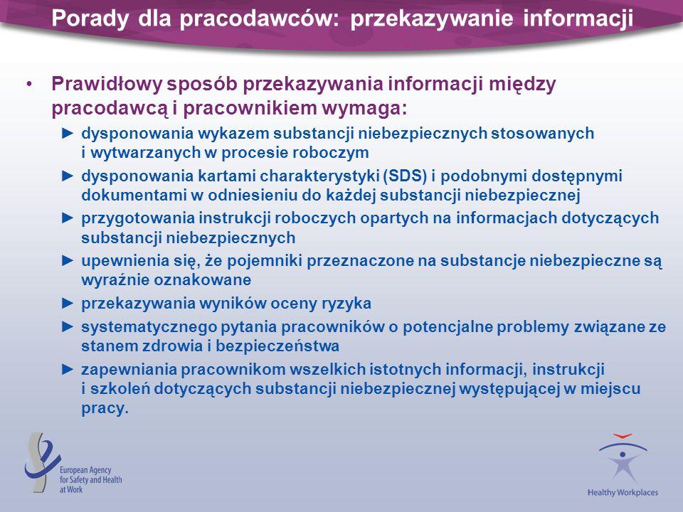 Porady dla pracodawców: przekazywanie informacji