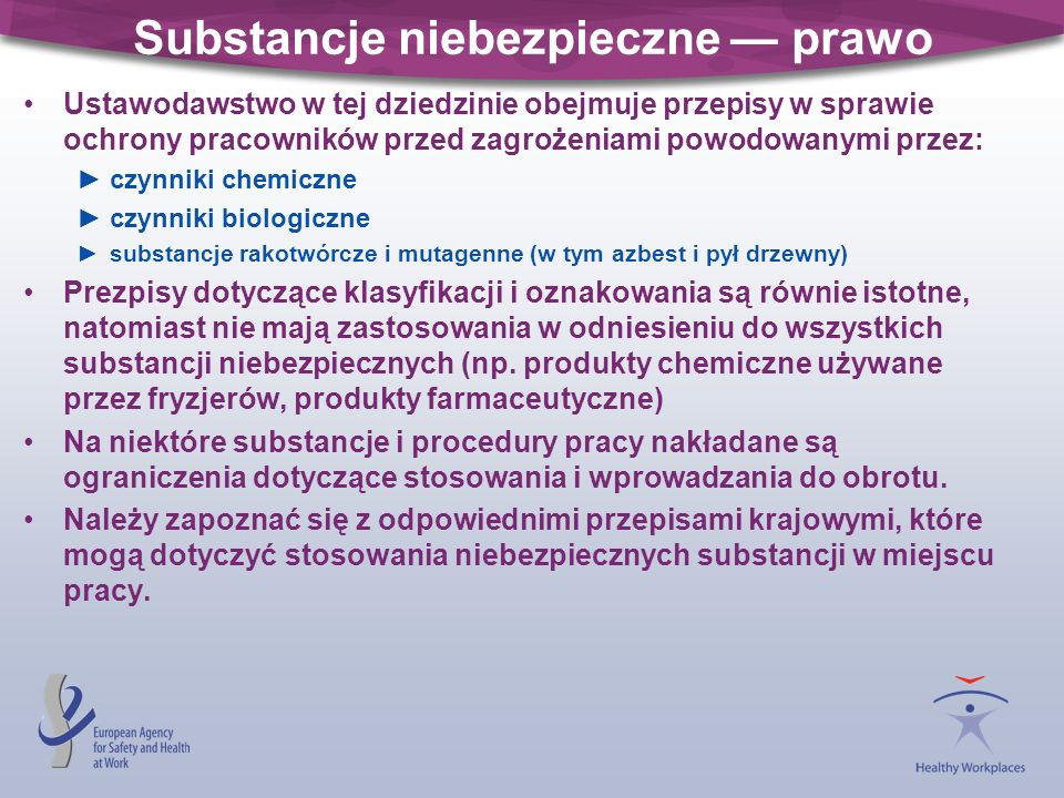 Substancje niebezpieczne — prawo