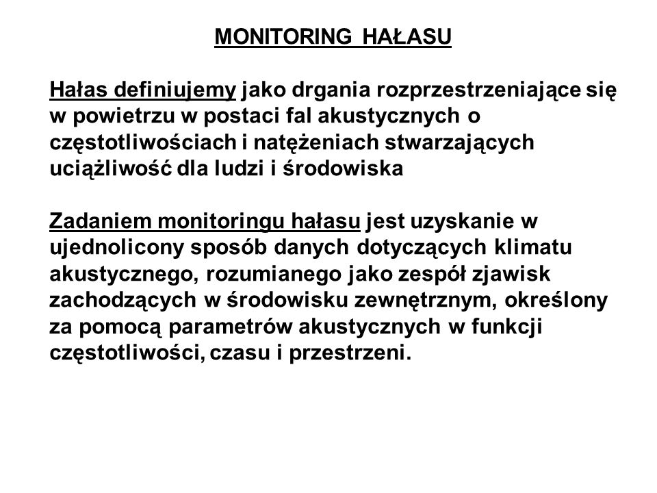 MONITORING HAŁASU