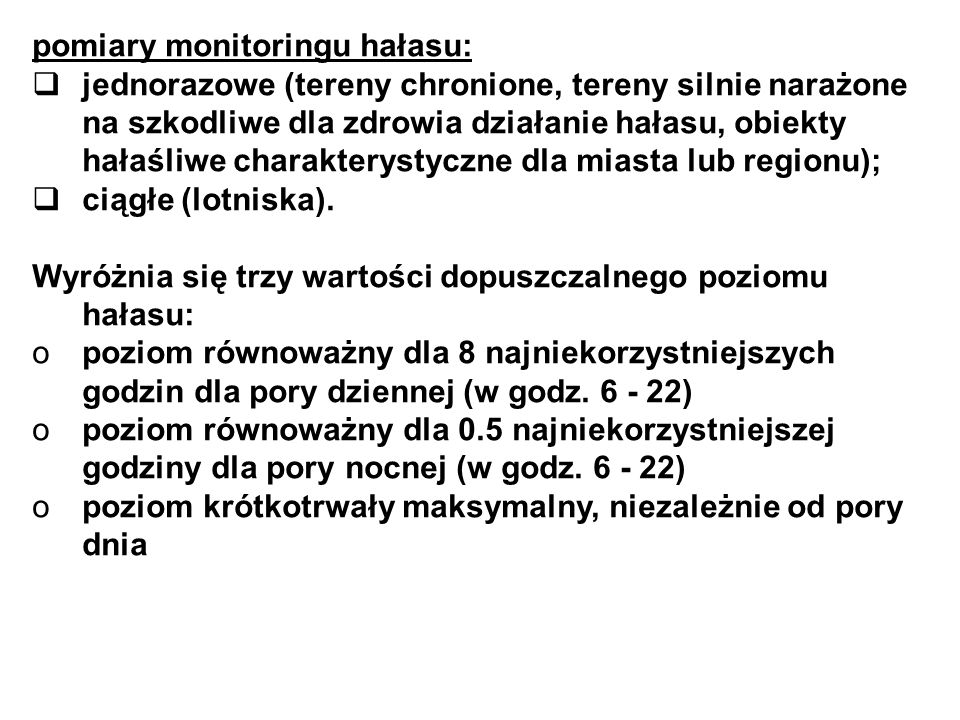 pomiary monitoringu hałasu: