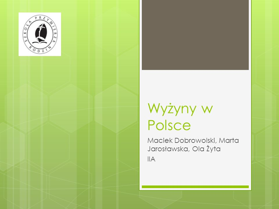 Maciek Dobrowolski, Marta Jarosławska, Ola Żyta IIA
