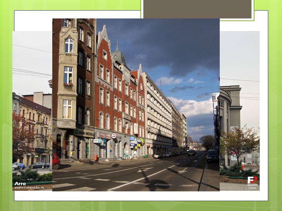 Główne miasta Katowice - ok. 308 tys. mieszkańców